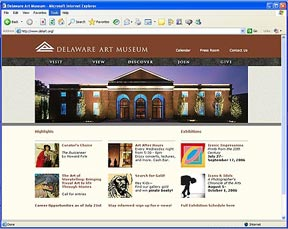 Delaware Art Museum Website